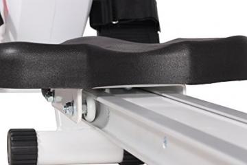SportPlus Rudermaschine, Computer inkl. 5 kHz Pulsempfänger, weiß, bis 150 kg Benutzergewicht, klappbar, SP-MR-008 -