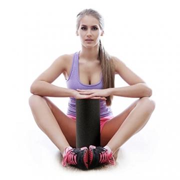 diMio Faszienrolle FlexCore zur Selbstmassage (FC-Rot, 29.5cm [MEDIUM]) -