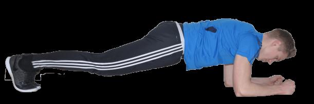 training ohne geräte Planken