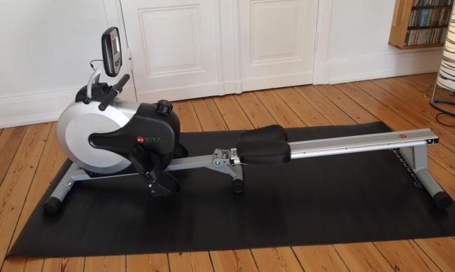 AsViva Rudergerät mit Bodenschutzmatte