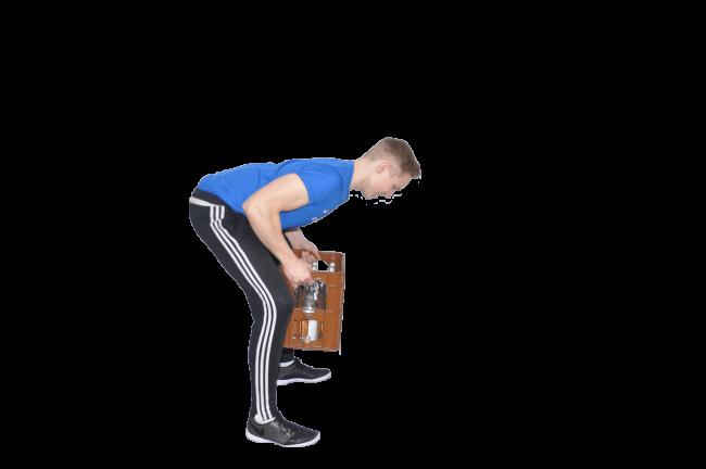 Sport zuhause Rüclemtraining