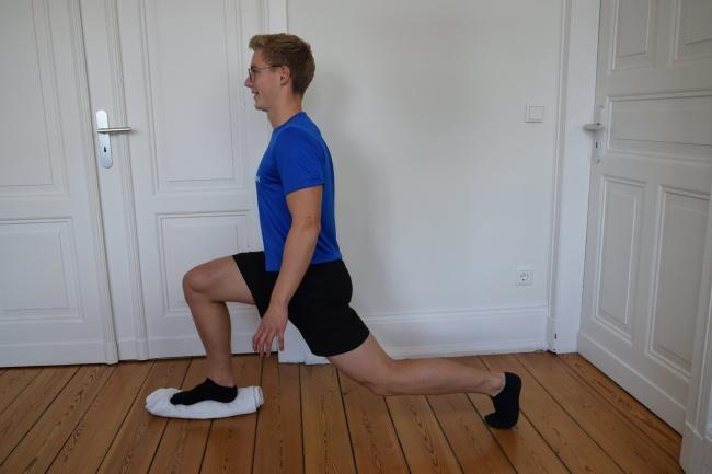 Ausfallschritt Stabilisationsübung Knie