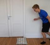 Sprung Stabilisationsübung Knie