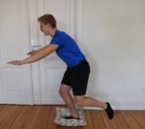 Stabilisationsübung Knie Sprung