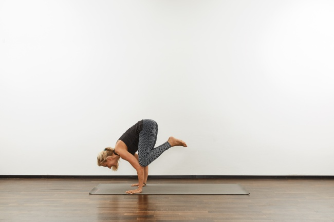 yoga zuhause krähe