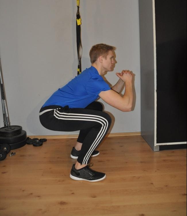 Knie stabilisieren Kniebeuge