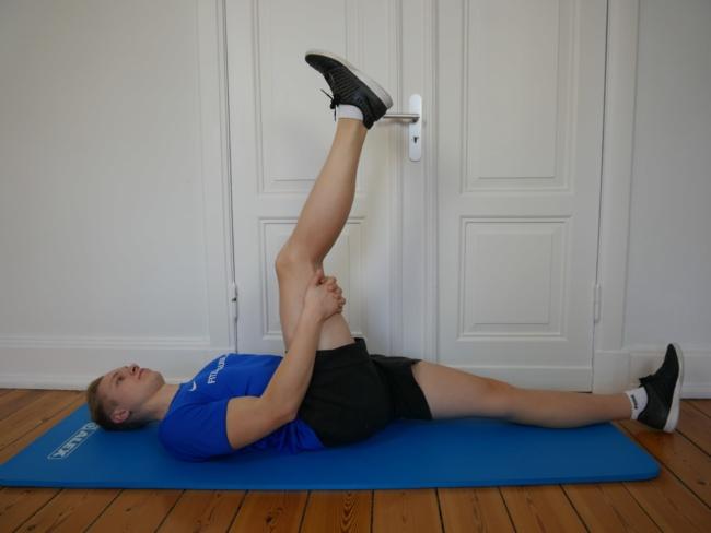 Beine dehnen - hamstrings