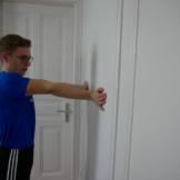 Unterarm Dehnen Rotieren Wand Mitte