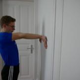 Unterarm Dehnen Rotieren Wand Unten 2