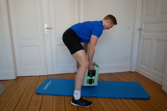 Rudern fitnessübung