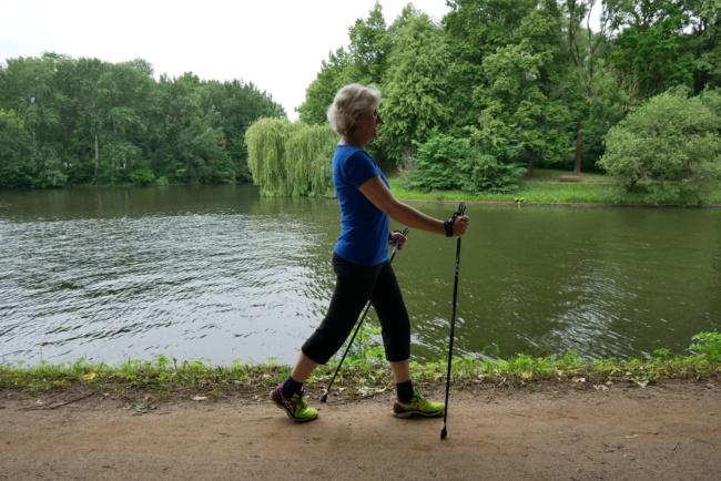 Nordic walking haltung