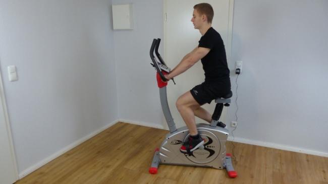 heimtrainer fahrrad training
