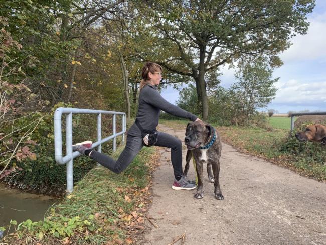 ausfallschritt fortgeschritten hunde sport