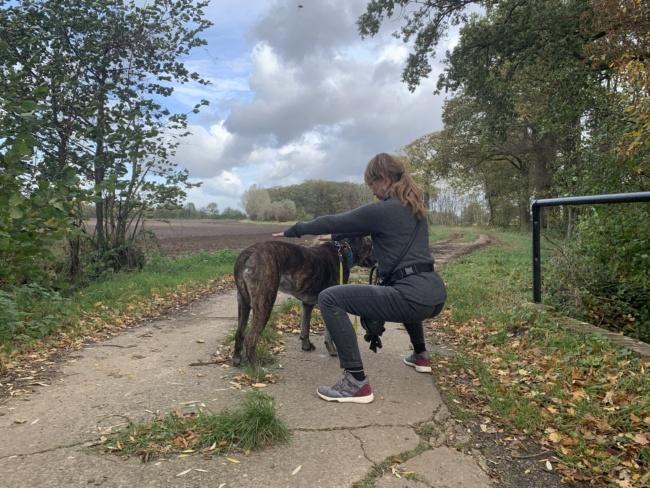 weiter squat mit hund