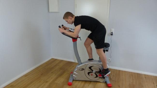 Heimtrainer Fahrrad Test
